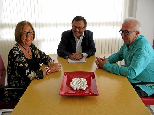 Adelaida de la Calle, Miguel Angel Heredia y José Sánchez Maldonado, PSOE