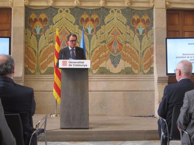 El pte.De la Generalitat Artur Mas