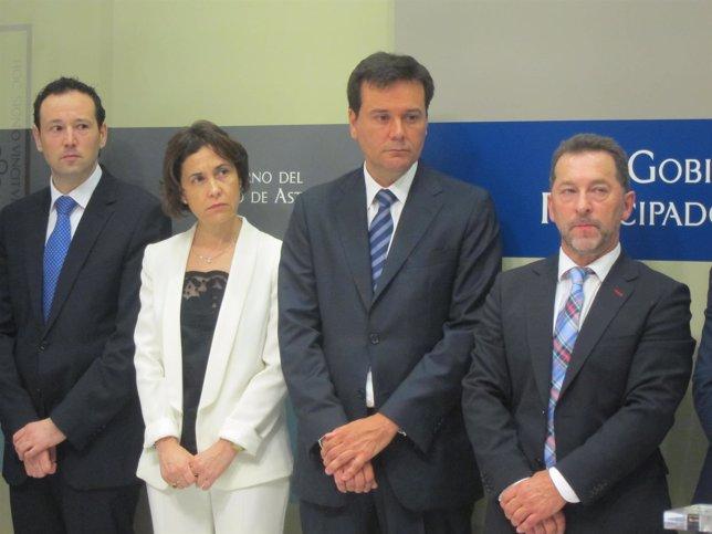 Guillermo Martínez, Dolores Carcedo, Francisco Blanco y Genaro Alonso.