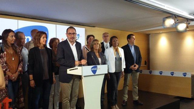R.Espadaler, M.Plana y otros miembros de Unió