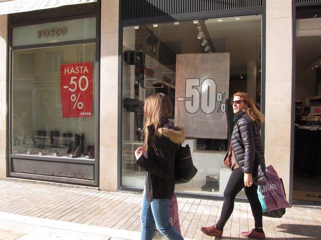 Rebajas, tiendas, comercios, Málaga