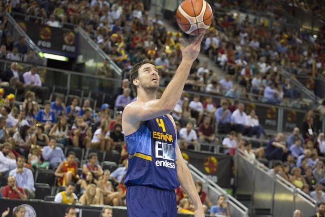 España vs Macedonia, Pau Gasol