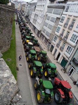 Tractorada en Lugo