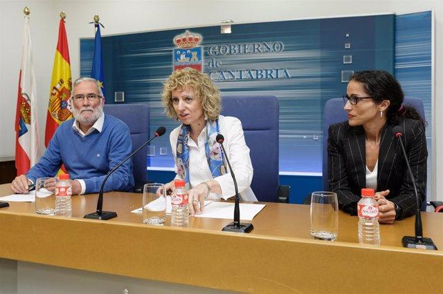 Ruiz, Tezanos y responsable de ACNUR