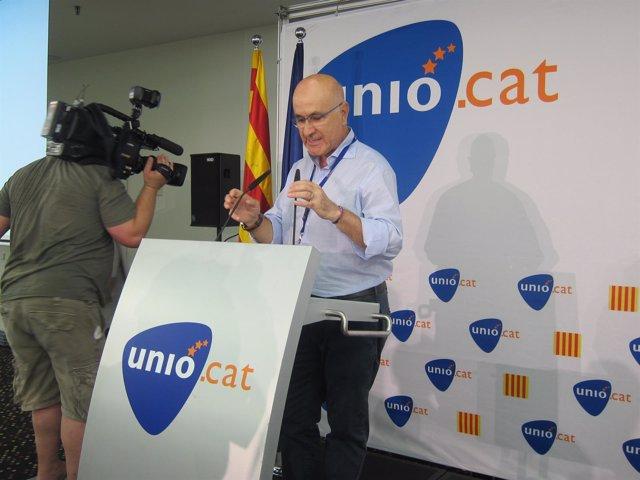 Josep Antoni Duran, en el consell nacional de UDC este sábado