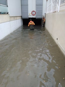Lluvia caída en Gandia