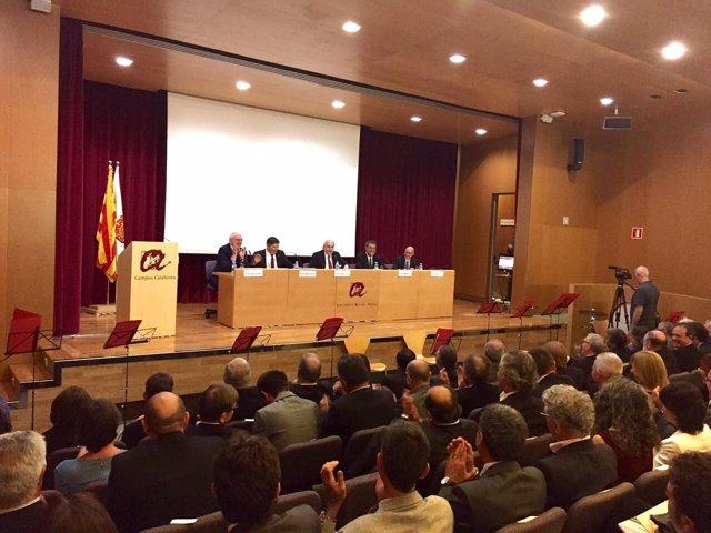 Inauguración del curso universitario con el conseller A.Mas-Colell