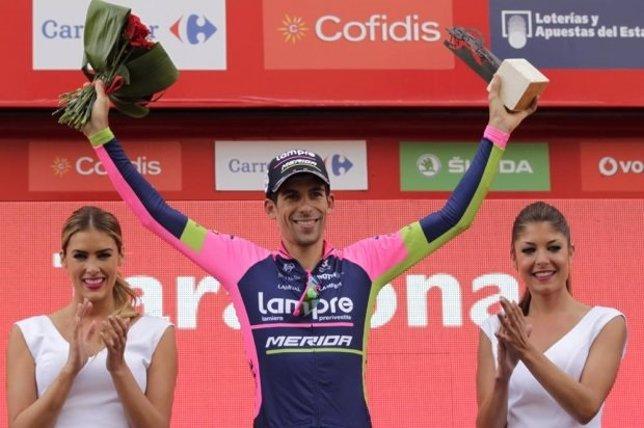 Oliveira estrena su palmarés y da el primer triunfo al Lampre en la Vuelta
