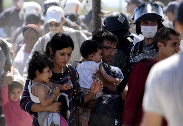 Refugiados llegan a Europa, Macedonia, Grecia