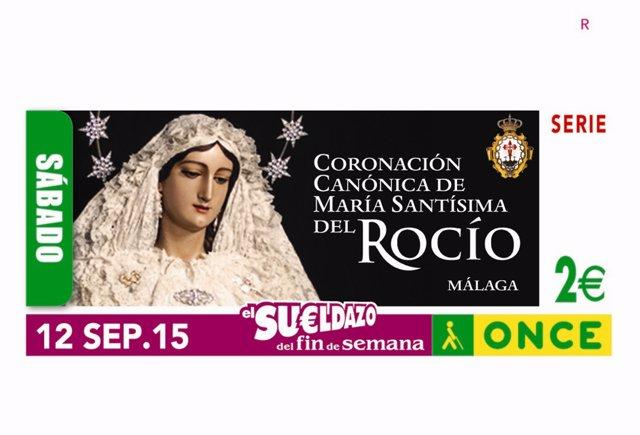Cupón de la ONCE dedicado a la coronación del Rocío