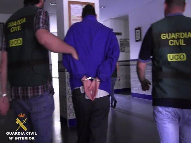 Imagen del detenido por el doble crimen de Almonte (Huelva).