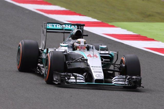 Hamilton en el GP Gran Bretaña 2015