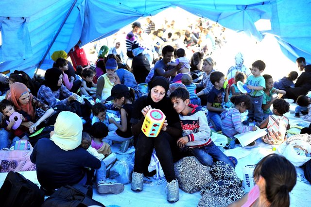 Migrantes en Macedonia