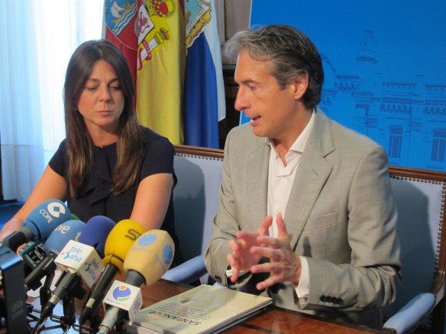 Noelia Espinosa e Iñigo de la Serna