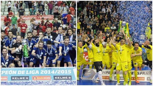 Movistar Inter y Jaén Paraíso Interior se miden en la Supercopa de España