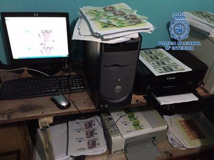 Policía española desmantela en Colombia imprenta para falsificar dinero