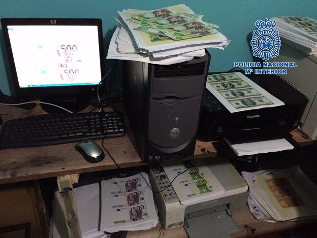 La Policía desmantela una red de falsificación de billetes en Colombia
