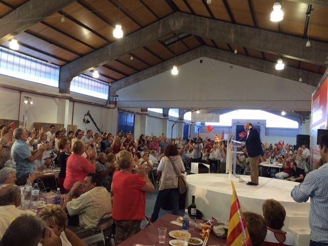El candidato del PSC a la Generalitat, Miquel Iceta, en un acto en Tarragona