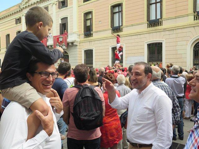 El candidato de Unió de la Generalitat, Ramon Espadaler, en Sabadell