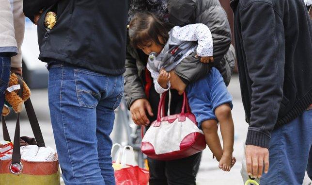 Refugiados llegando a la principal estación ferroviaria de Múnich