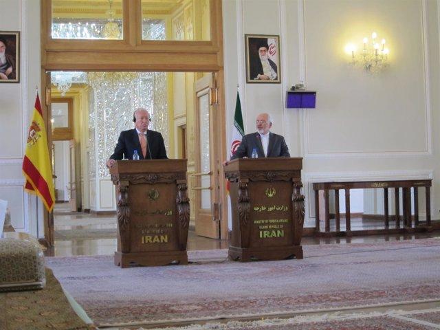 José Manuel García-Margallo y Mohamed Javad Zarif