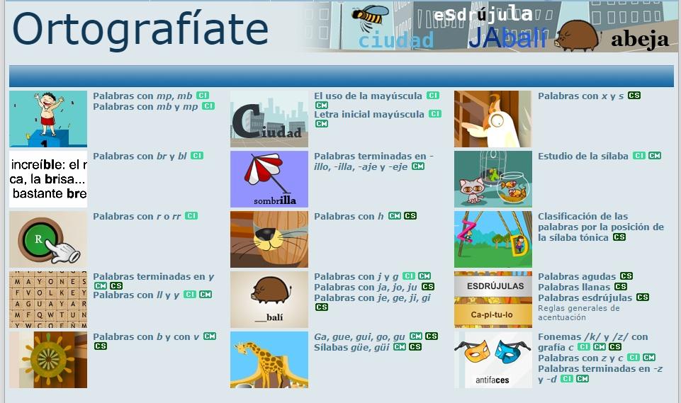 Cinco Juegos Online Para Aprender Ortografia