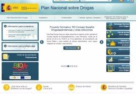 El Plan Nacional sobre Drogas renueva su página web y abre una cuenta en Twitter
