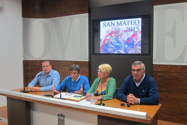 Presentación del programa de las Fiestas de San Mateo 2015.
