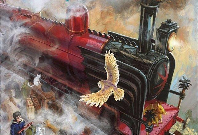 Portada de la edición ilustrada de Harry Potter y la piedra filosofal