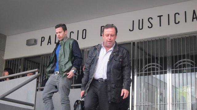 El exalcalde de Bollullos Par del Condado Carlos Sánchez en los juzgados.
