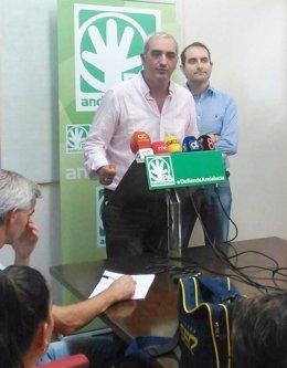 El Secretario General Del PA, Antonio Jesús Ruiz, En Rueda De Prensa