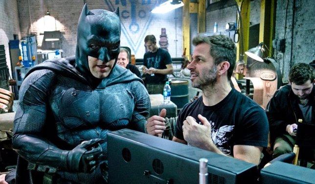 Zack Snyder y Ben Affleck en Batman v Superman