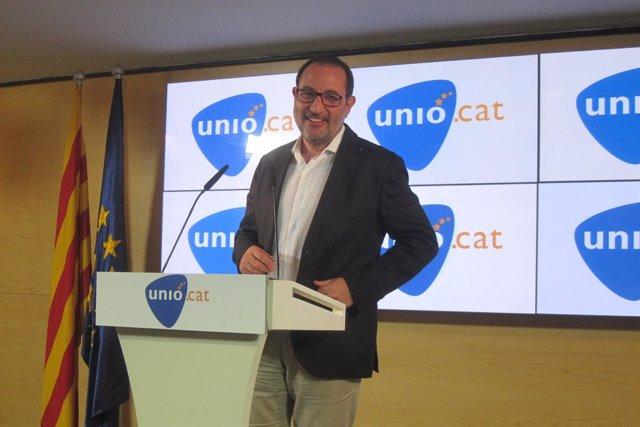 El candidato de UDC a la Generalitat, Ramon Espadaler