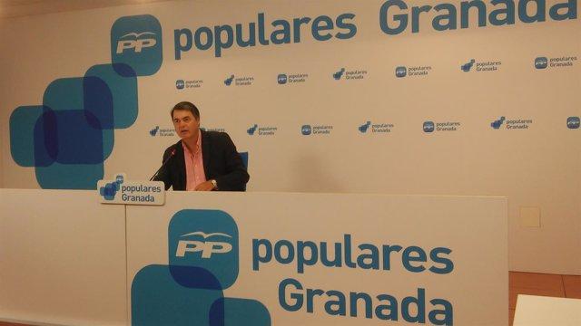 El portavoz del PP en el Parlamento andaluz, Carlos Rojas.