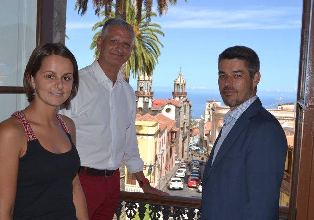 Delia Escobar, Francisco Linares y Alberto Bernabé