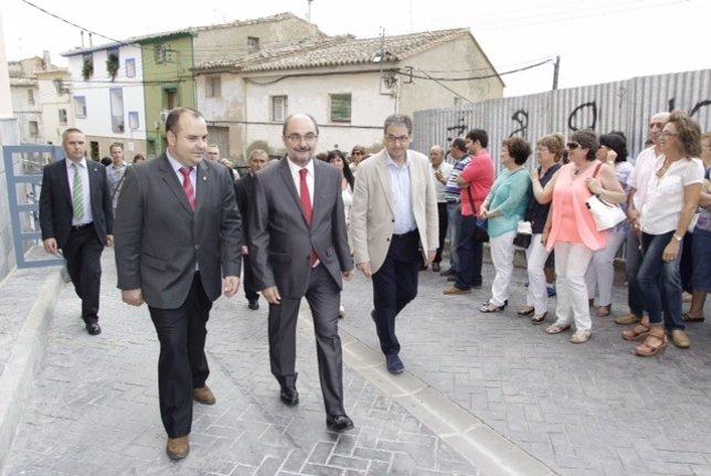 Javier Lambán inaugura en Magallón la Casa de la Mujer.