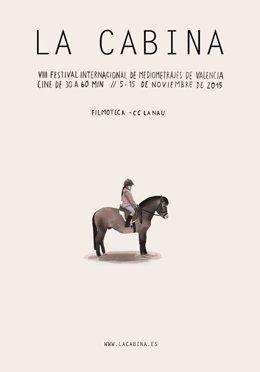 Cartel de la octava edición del festival de mediometrajes La Cabina