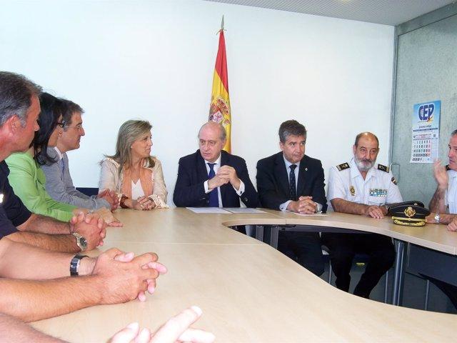 Fernández Díaz, en la comisaría de Astorga.