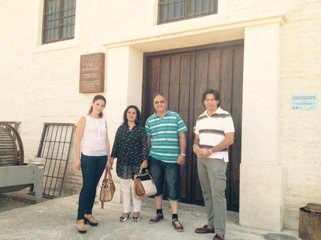 Visita de la vicepresidenta del Patronato de Turismo de Córdoba a Castro del Río