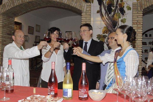 Puig durante su visita a Utiel