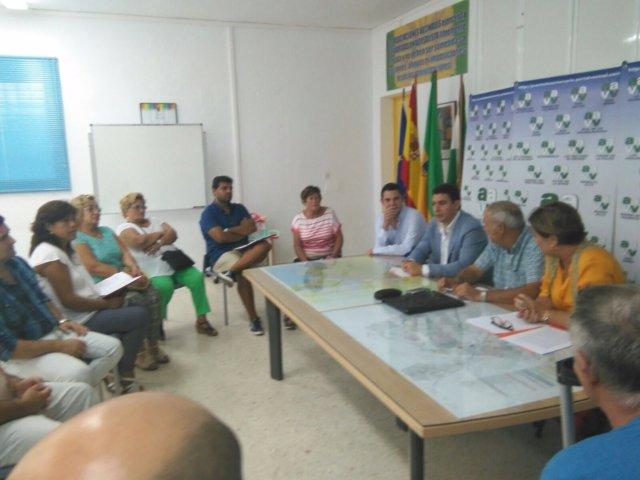 Reunión del diputado Sergio Romero (C's) con colectivos vecinales