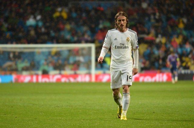 Luka Modric en el partido ante el Borussia Dortmund