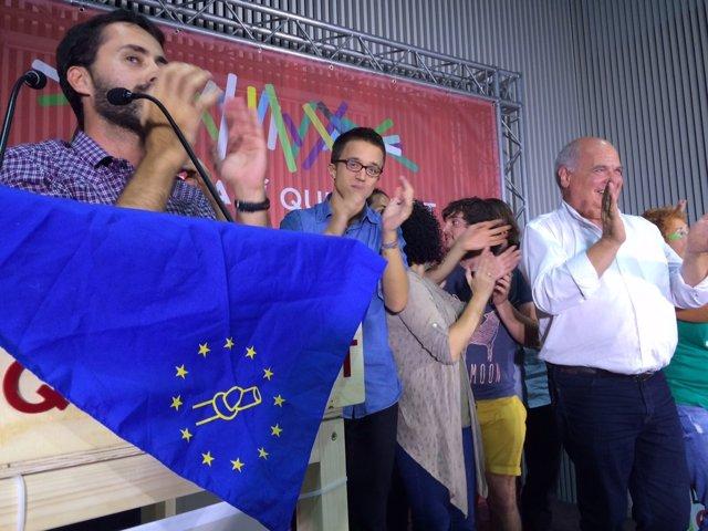 Iñigo Errejón (Podemos) Lluís Rabell (SíQueEsPot)