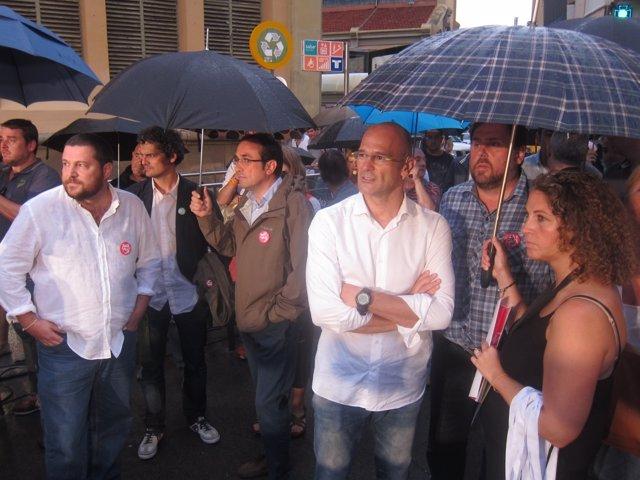 Josep Rull, Raül Romeva, Oriol Junqueras (Junts pel Sí)