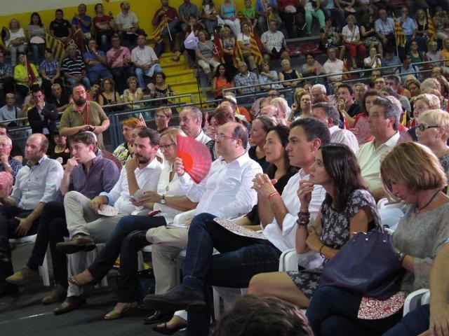 Javi López,A.Escarp,M.Iceta,E.Niubó,Pedro Sánchez,N.Parlon,C.Chacón, PSC, PSOE