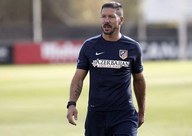 Simeone entrenamiento Atlético