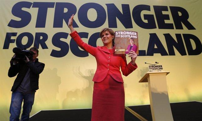 La líder del Partido Nacionalista Escocés, Nicola Sturgeon