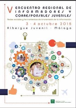 Cartel del V Encuentro Regional de Informadores y Corresponsales Juveniles