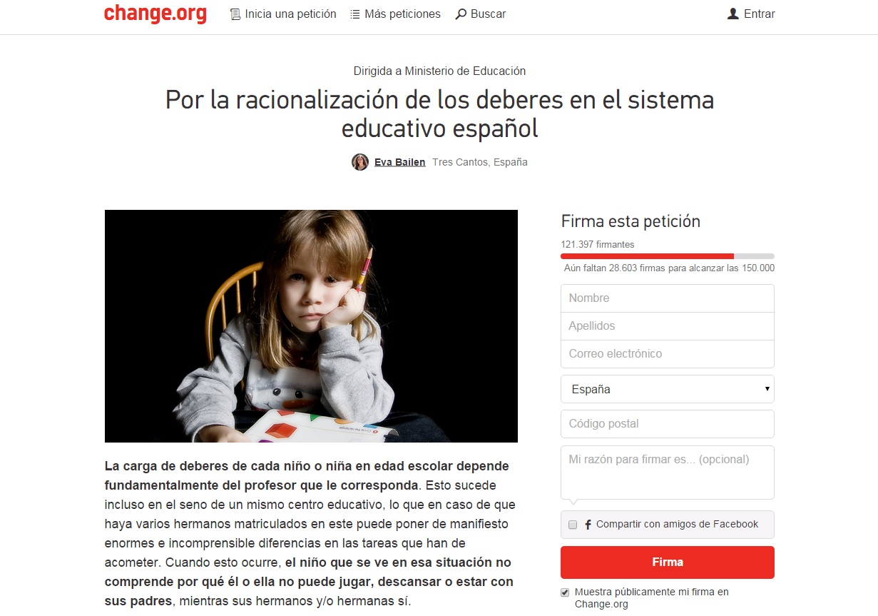 Petición en Change