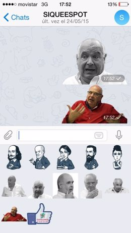 Emoticonos de Lluís Rabell (CatSíQueEsPot)
